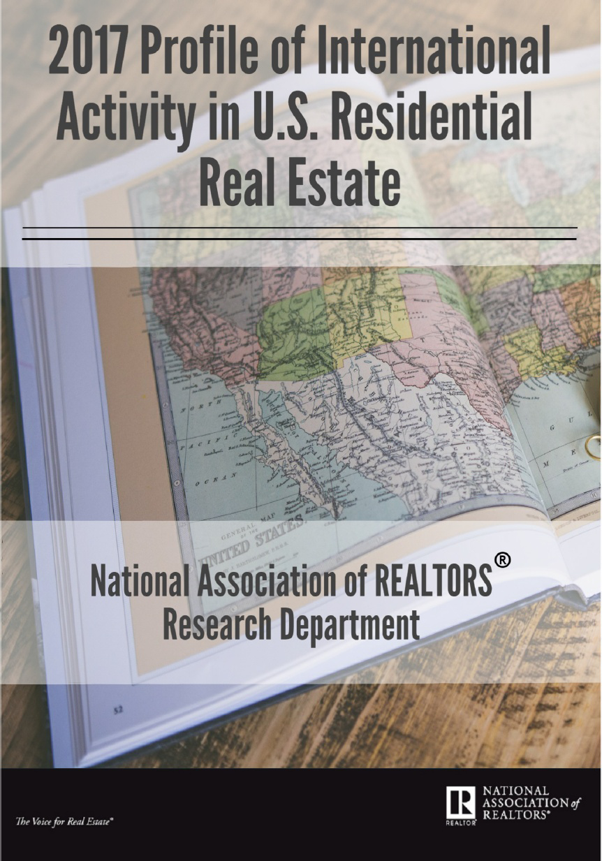 2017 Profile of International Activity in U.S. Residential Real Estate report cover