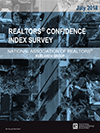 Cover of the July 2018 REALTORS® Confidence Index