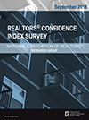 Cover of the September 2018 REALTORS® Confidence Index