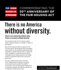 2018 Fair Housing Act Commemoration Flyer