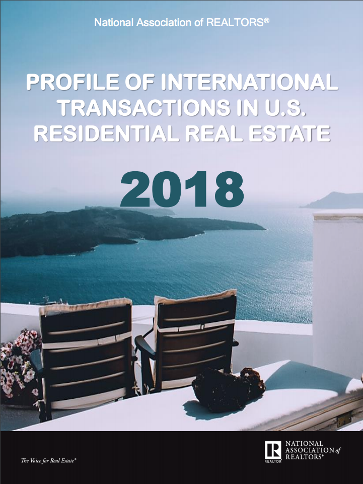 Cover of the 2018 Profile of International Transactions in U.S. Residential Real Estate