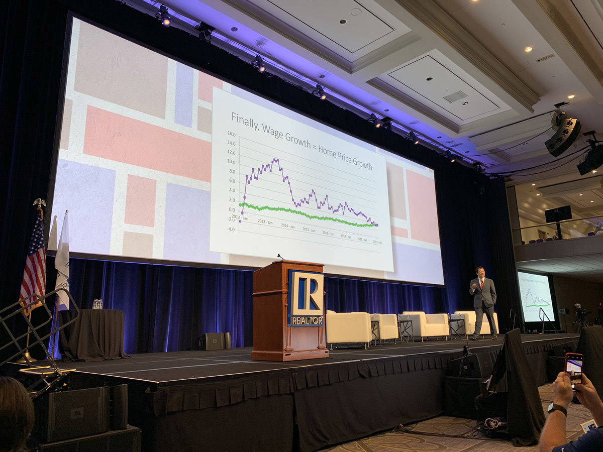 NAR Chief Economist Lawrence Yun, speaking at the 2019 REALTORS® Legislative Meetings & Trade Expo