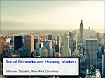 Cover of slide deck: Social Networks and Housing Markets