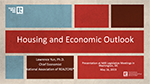 Cover of slide deck: Housing and Economic Outlook