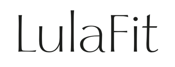 LulaFit logo in black letters with white background