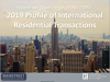 Cover of the 2019 Profile of International Residential Transactions of the Mainstreet Organization of Realtors