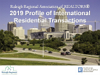 Cover of the 2019 Profile of International Residential Transactions of the Raleigh Association of Realtors