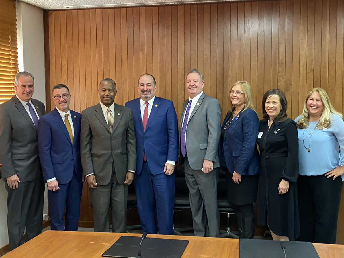 The 2020 NAR Leadership Team with HUD Secretary Ben Carson