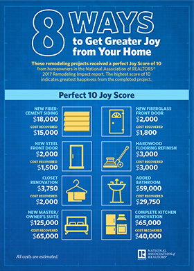 8 Ways to Get Greater Joy from Your Home infographic