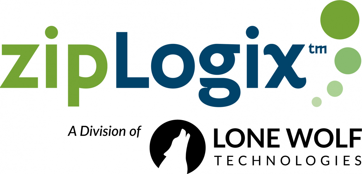 Logo for zipLogix, a division of Lone Wolf Technologies
