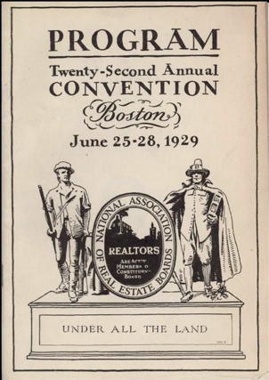 Convention Program 1929