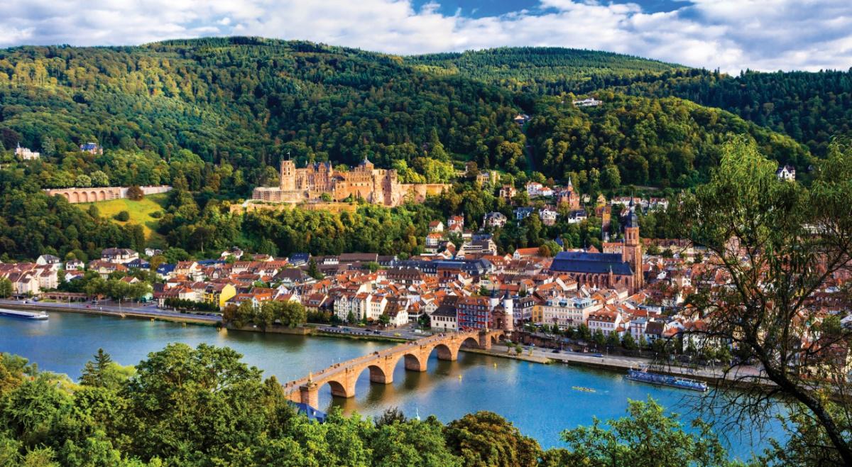 European countryside with bridge