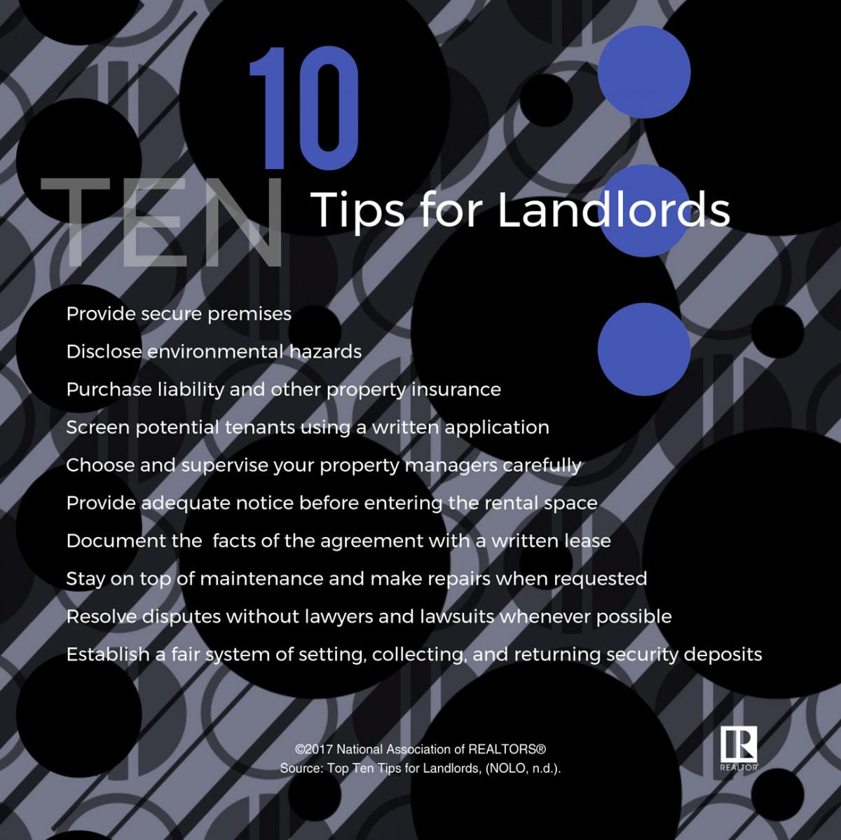 10 Tips for Landlords