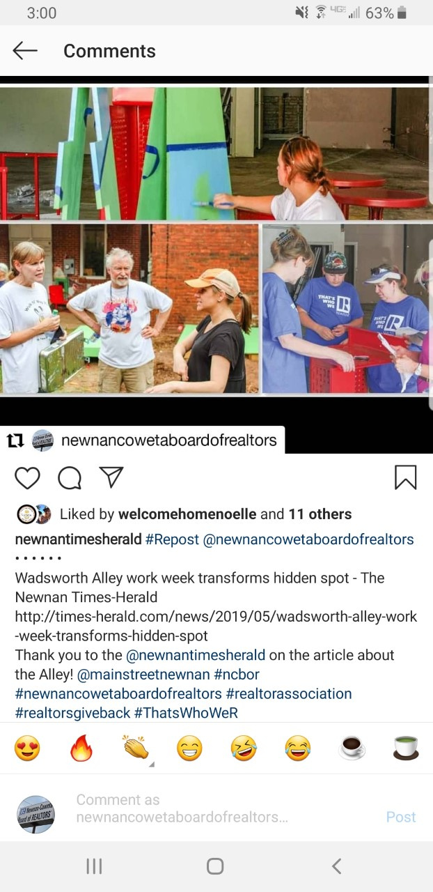 Newnan-Coweta Board of REALTORS® Instagram Post