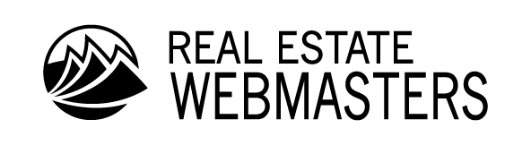 Real Estate Webmasters logo in black text with white background