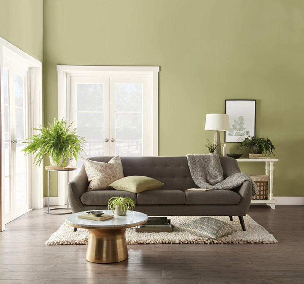 Behr living room in green