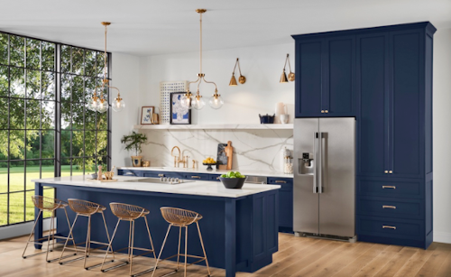 Sherwin Blue kitchen