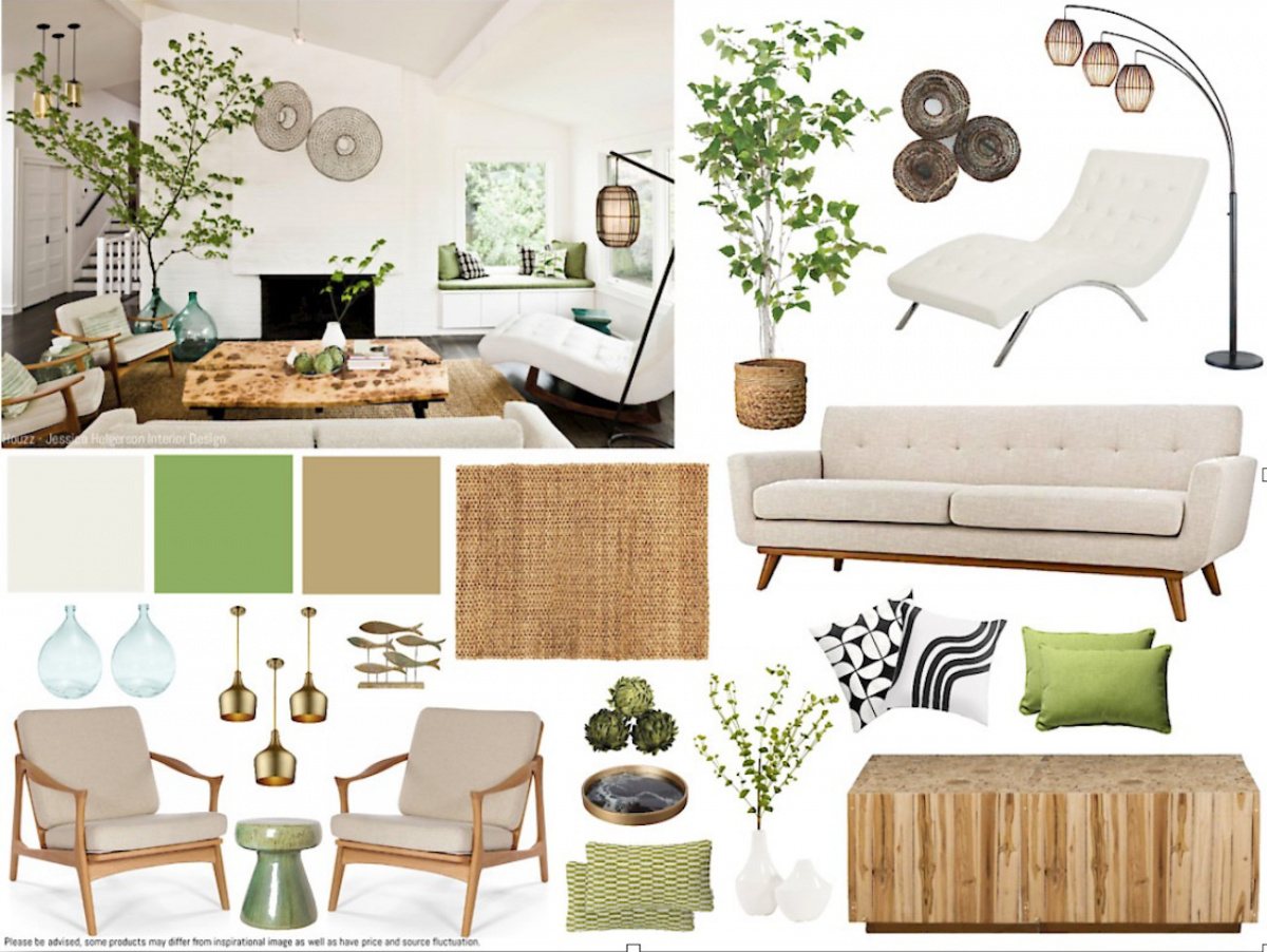 An assortment of home furniture items