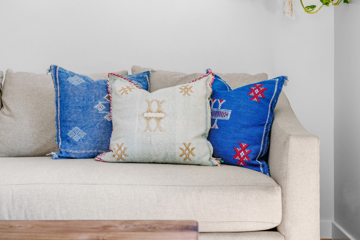 Tribal prints on pillows