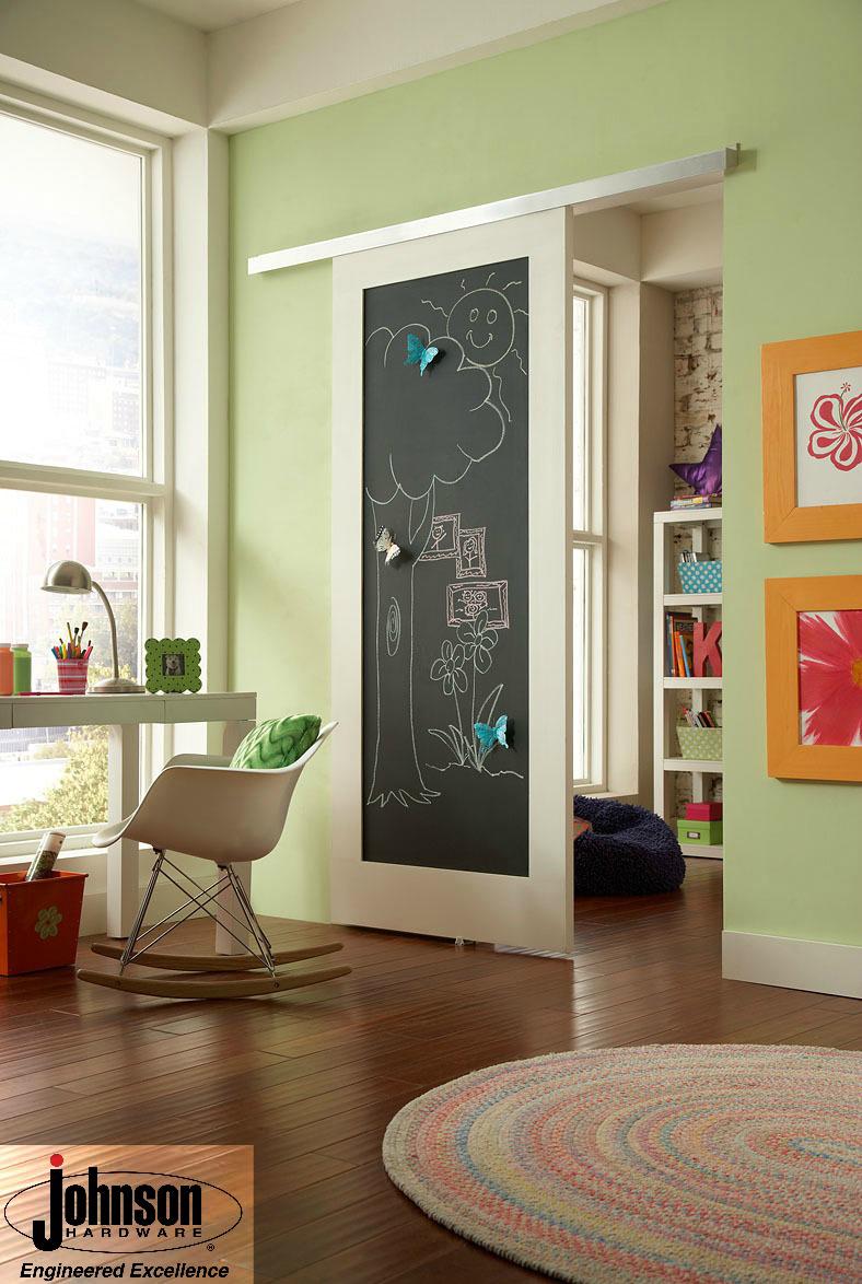 Barn Door With Chalk Board