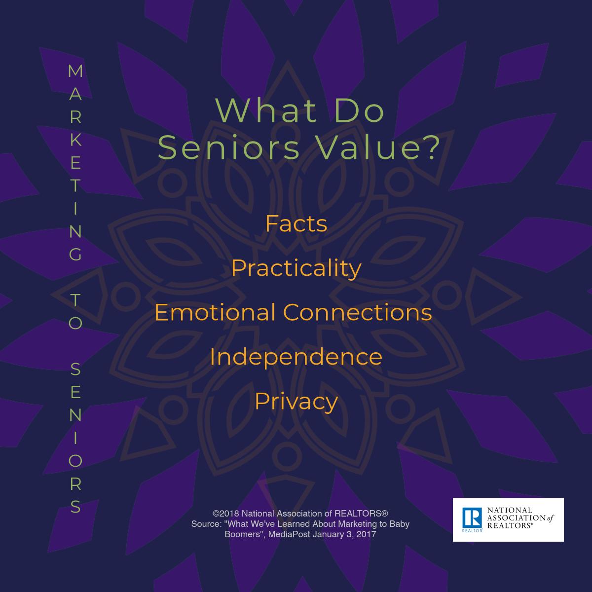 What do seniors value?