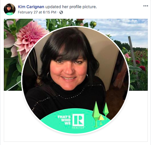 That's Who We R Facebook Frame by Kim Carignan