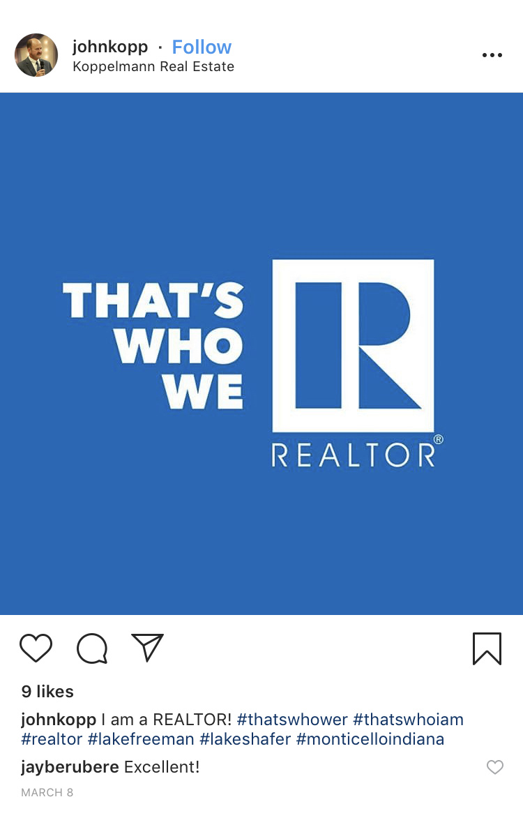 That's Who We R Instagram Post by Koppelmann Real Estate