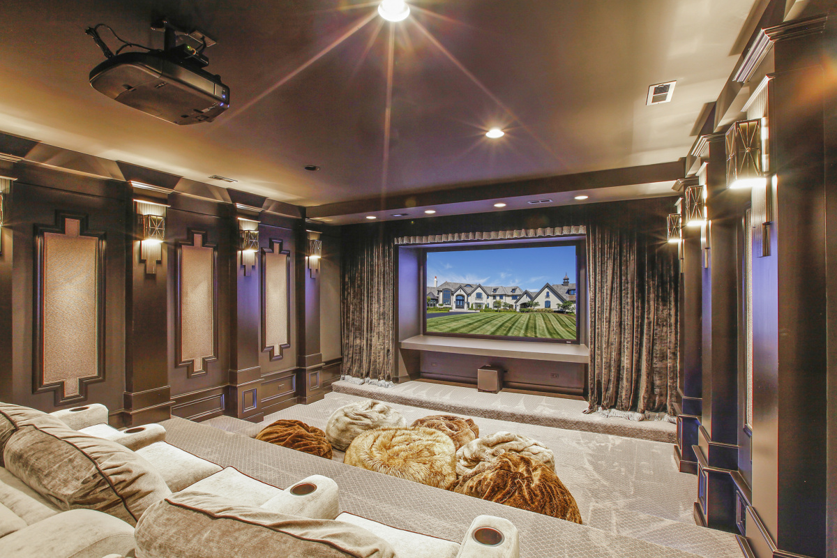 Home theater in luxury house