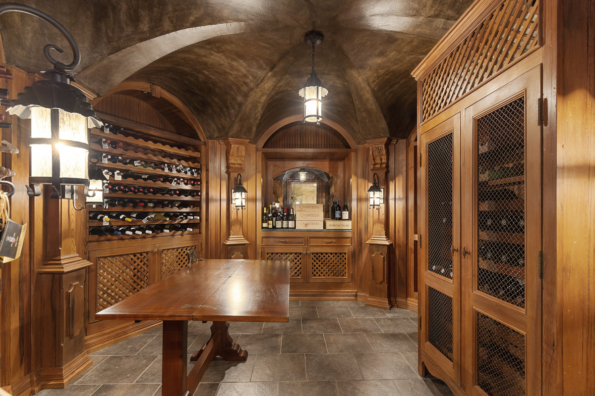 Wood home wine cellar