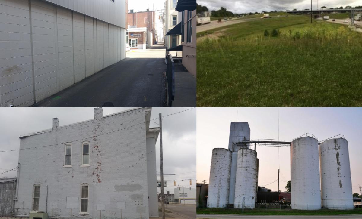 Several abandoned farm silos