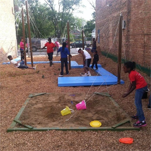 Vacant lot to playground in Roseland, Chicago, IL.  Courtesy of Demoiselle 2 Femme.