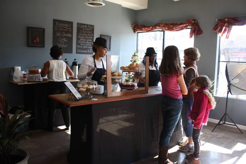 Cafe  at Better Block Norfolk.