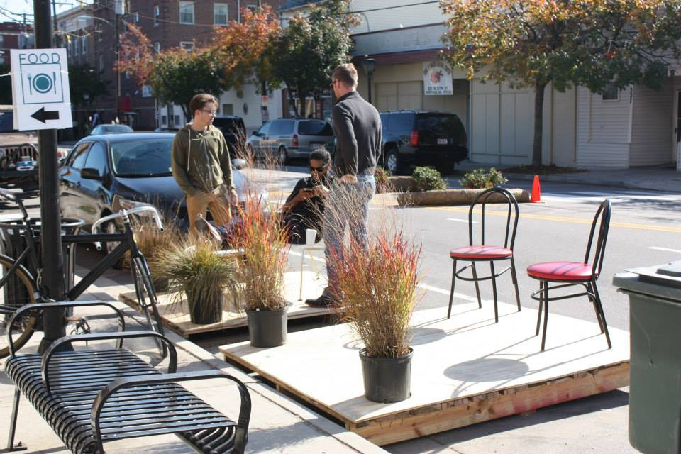 Parklet at Better Block Norfolk.