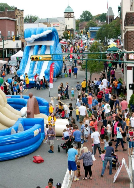 """South Orange Ave. During 2014's """"Play Day"""""""