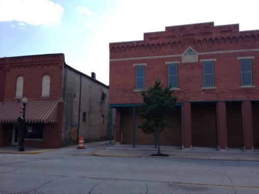 View of the soon to be transformed alleyway from Main Street.