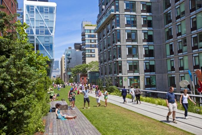 New York City's Highline.  Photo courtesy of City Lab.
