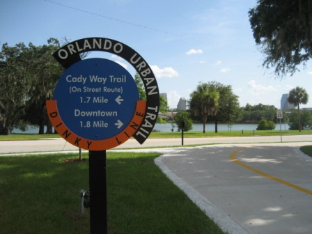 Orlando Urban Trail.   Photo courtesy of Bike Orlando.