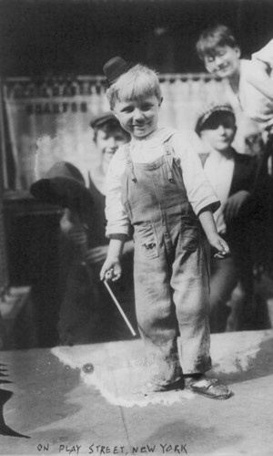 Boys on an NYC play street, 1915. Image courtesy Library of Congress.