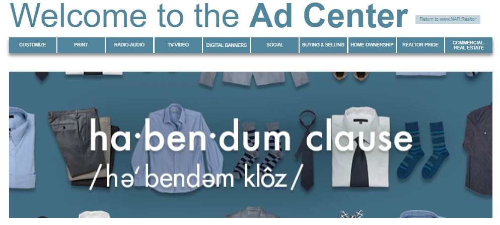 Consumer Advertising Campaign Ad Center banner