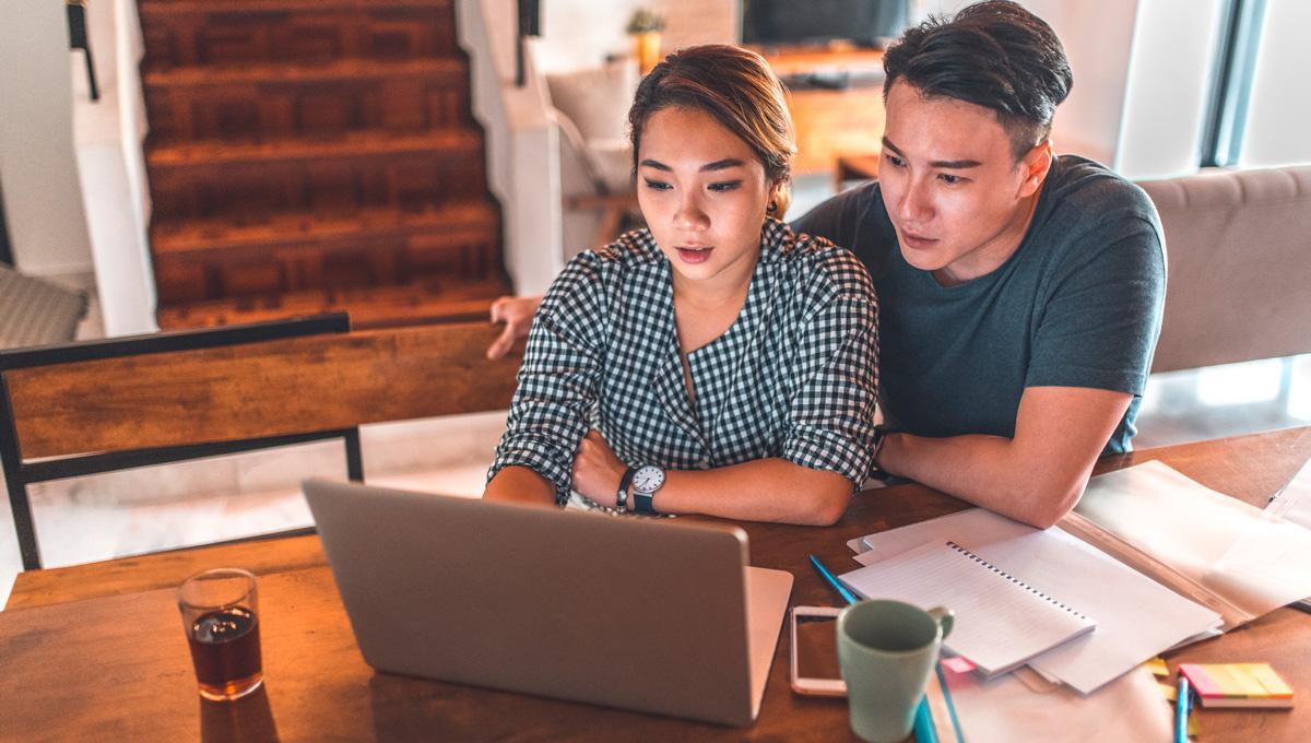 Couple Discussing Housing Finances