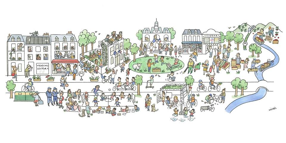 Illustration: 15-Minute City