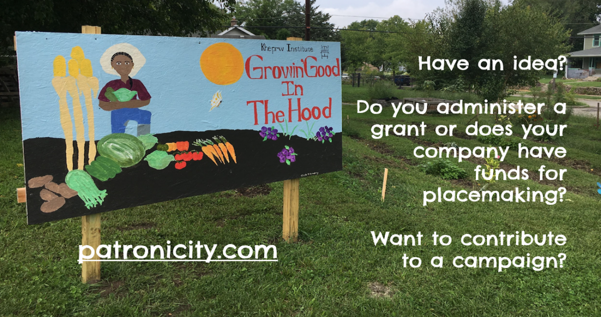 A billboard for the patroncity project