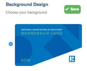 Membership Card Background Select