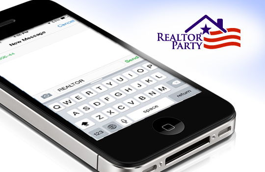 realtor party logo and black phone