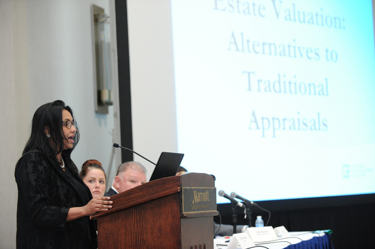 Lima Ekram, speaking at the Real Property Valuation Forum on May 16, 2018