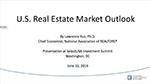 Cover of slide deck: U.S. Real Estate Market Outlook