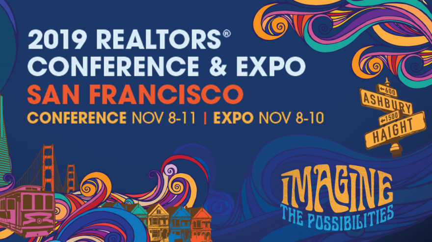 2019 REALTORS® Conference & Expo San Francisco banner with illustration of Haight Ashbury intersection street signs