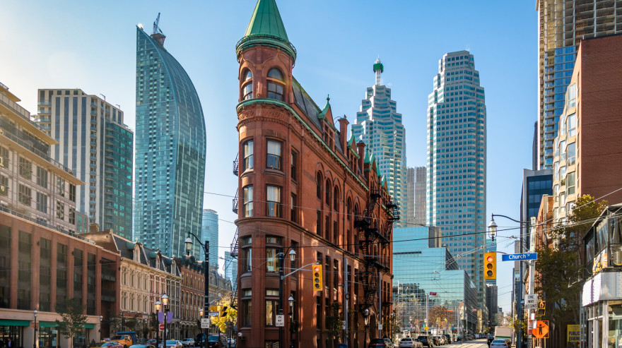 Buildings in downtown Toronto