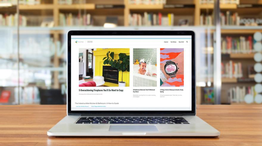 HouseLogic Site on Laptop Screen