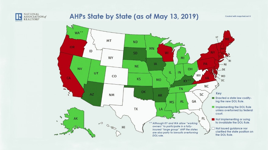 AHPs State by State Map